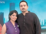 Sadia and Abbas Ali Khan. The Dark Knight Rises premieres at the Arena in Rawalpindi. PHOTO COURTESY NUCLEUS EVENTS