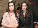 Sara and Ambreen. Little London Company launches in Lahore. PHOTO COURTESY BILAL MUKHTAR AND EVENTS