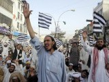 Pakistani Muslim shout anti-US slogans during a rally against an anti-Islam movie in Quetta on September 16, 2012.  PHOTO : AFP
