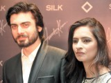 Fawad Khan and Sadaf Khan.Fawad Khan launches SILK, a ready-to-wear clothing brand, in Lahore. PHOTO COURTESY NASHIT NOOR OF NEAT PRODUCTIONS