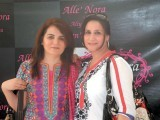 Gul and Lubna. Aliya Tipu exhibits her clothing line in Karachi. PHOTO COURTESY IDEAS EVENTS PR