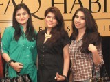 Hira, Anum and Ayesha.Shafaq Habib House of Jewellery launches their latest collection in Lahore. PHOTO COURTESY OZ COMMUNICATIONS