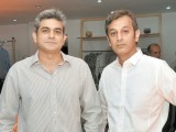 Imran and Akib Khan.The multi-label brand Dernier Cri launches in Lahore۔ PHOTO COURTESY VERVE