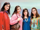 Madiha, Najia, Ramsha and Daniya. The Designers holds a multi-designer fashion exhibition in Karachi. PHOTO COURTESY VOILA PR