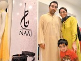 Nabeel, Zainab and Basil. The Designers holds a multi-designer fashion exhibition in Karachi. PHOTO COURTESY VOILA PR