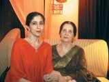 Nida and Mrs Wajid Ali.PHOTO COURTESY OZ COMMUNICATIONS