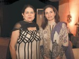 Rubina with a friend. Shafaq Habib House of Jewellery launches their latest collection in Lahore. PHOTO COURTESY OZ COMMUNICATIONS