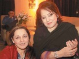 Sadia and Mother. Shafaq Habib House of Jewellery launches their latest collection in Lahore. PHOTO COURTESY OZ COMMUNICATIONS