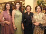 Shaima, Razia, Zarqa and Sarosh. Shafaq Habib House of Jewellery launches their latest collection in Lahore. PHOTO COURTESY OZ COMMUNICATIONS