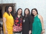 Zeba Husain, Shezray Husain, Faiza Malik and Shehrnaz Husain.The House of Ensemble launches its first outlet in Dubai. PHOTO COURTESY SOHAIL NAZISH