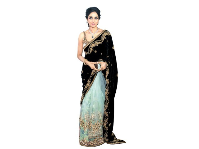 Sridevi: The Hindi film bombshell from the 80s looked smoking hot at the Toronto Film Festival when she showed up in the stunning Sabyasachi sari.