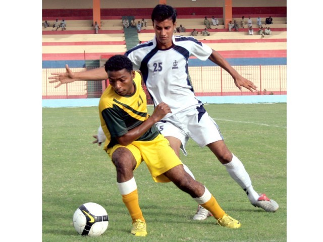 Navy's crushing win over Baloch FC helped them consolidate their 5th place in the league. PHOTO: FILE EXPRESS