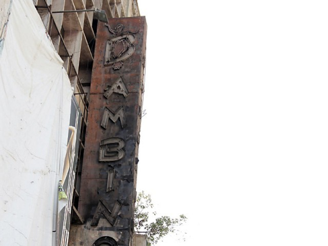 Bambino Cinema is one of Karachi's six charred movie theatres.