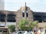 Nishat Cinema's front. PHOTO: AYESHA MIR & ATHAR KHAN/EXPRESS
