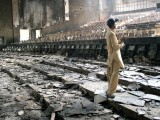 The charred remains of the Capri hall. PHOTO: AYESHA MIR & ATHAR KHAN/EXPRESS
