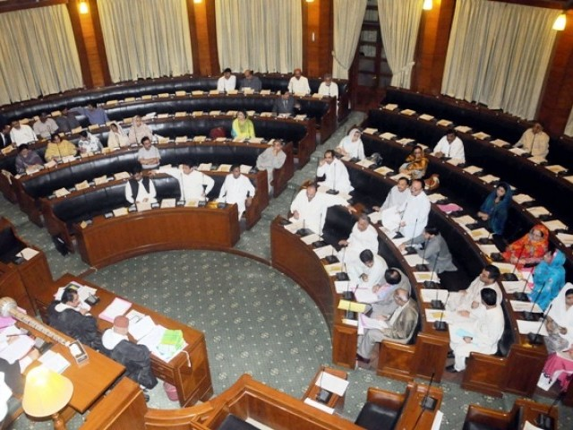 PML-F, ANP and NPP members protested as the law minister read out the ordinance. PHOTO: MOHAMMAD AZEEM/FILE