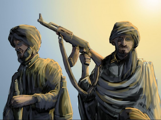 We had no intentions to kill her but were forced when she wouldn't stop (speaking against us), say Swat Taliban. ILLUSTRATION: JAMAL KHURSHID
