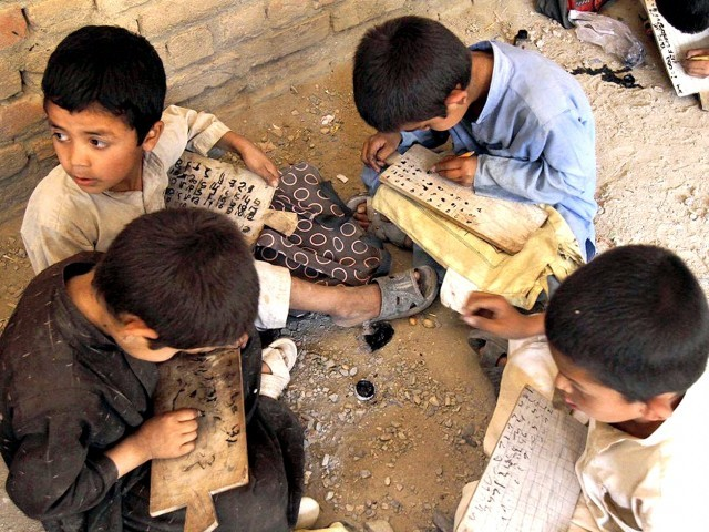 Education for All Global Monitoring report shows 19.75m children, aged 5 to 9, are out of schools. PHOTO: INP/FILE
