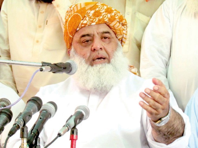 JUI-F chief says international agenda behind attack on child activist. PHOTO: PPI/FILE