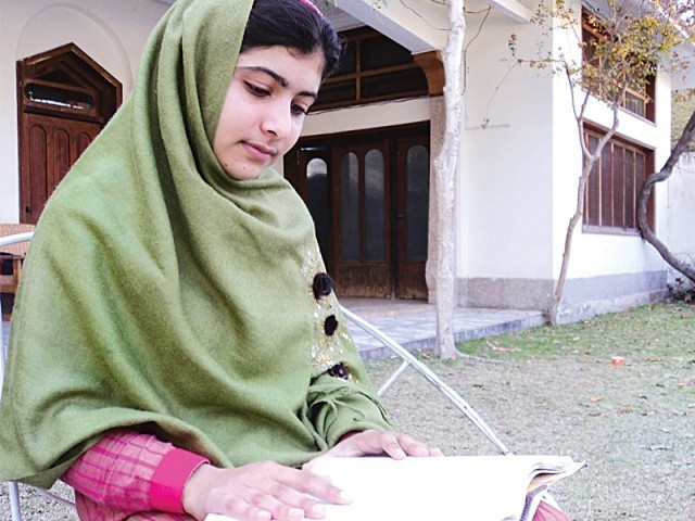 Malala Yousufzai, shot by Taliban gunmen for advocating girls' education, was flown from Pakistan to Britain to receive treatment after the attack  PHOTO: FAZAL KHALIQ/FILE
