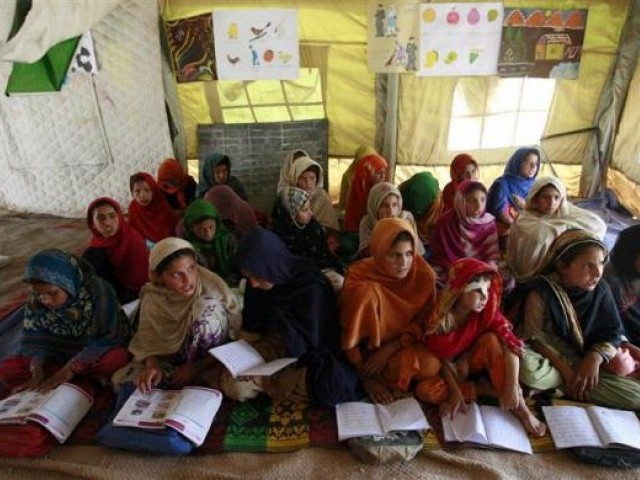 two thirds of the out-of-school children in the country are females,  making Pakistan the third largest in the world with out of school female students. PHOTO: REUTERS