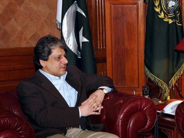 Dr Ishratul Ebad Khan also orders additional mobile phone locators for Karachi police. PHOTO: APP/FILE