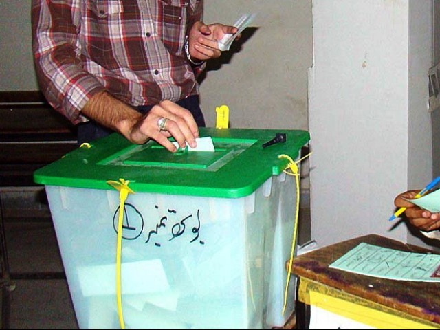 Opposition members claim PPP moving polling stations to its strongholds.PHOTO: APP/FILE