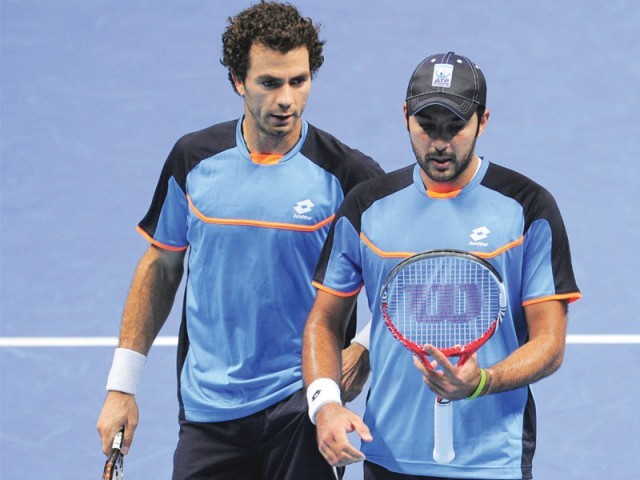 Aisam and Rojer, who were making their team debut at the event, will play a consolation match today. PHOTO: FILE AFP