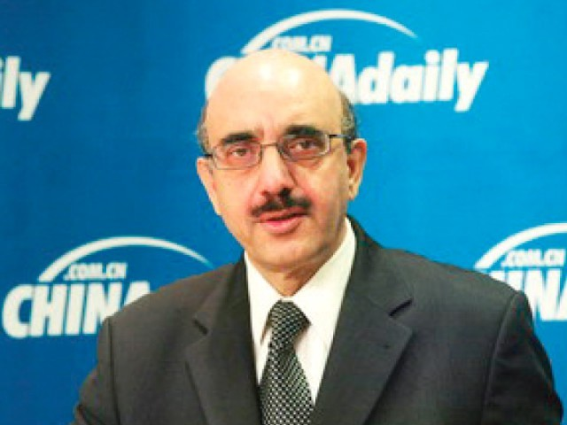 Ambassador Masood Khan says Israeli airstrikes in Gaza threaten international peace and security. PHOTO: FILE
