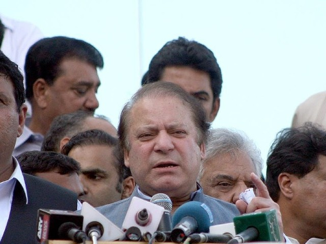 Nawaz quotes SC as saying that political parties in Karachi have militant wings. PHOTO: INP/FILE