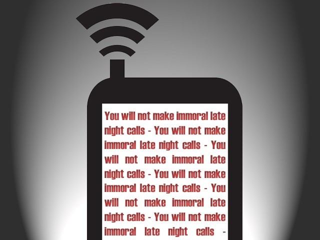 Banning late night mobile packages is a rash decision say experts. DESIGN: JAHANZAIB HAQUE