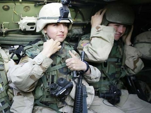 "US servicewomen call the policy as an ""injustice to the women who continue to put their lives on the line for their country."" PHOTO: AFP/FILE"