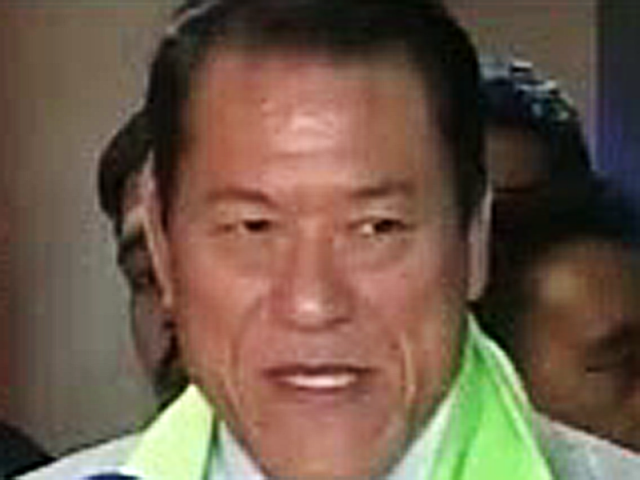 Japanese wrestler Anotonio Inoki arrived in Pakistan on Friday. PHOTO: EXPRESS