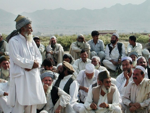Combined jirga of Mullah Nazir's faction and Aman Committee demands that IDPs and militants of Mehsud tribe leave Wana. PHOTO: AFP/FILE