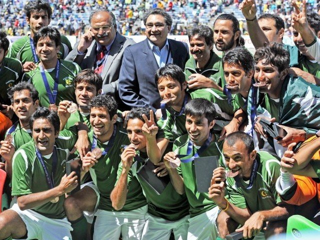 Pakistan became the most improved nation in the top ten by winning Bronze medal at Champions Trophy. PHOTO: AFP