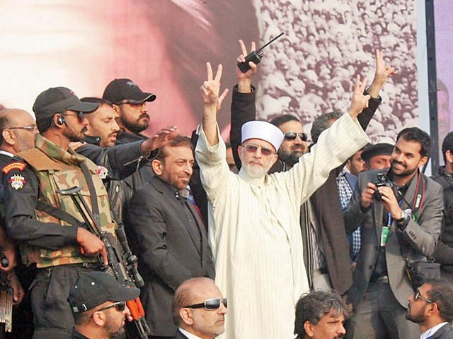 Qadri's proposal is to have a caretaker, technocratic govt, but this would be in clear violation of the Constitution. PHOTO: NNI/FILE