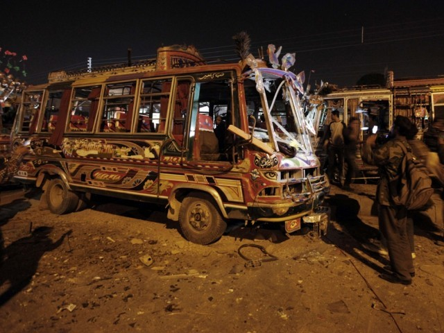 Similar blasts occurred in Abbas and Orangi towns during Muharram. PHOTO: REUTERS