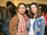 Aneeka and Sarah Gandapur. Sefam and Adnan Pardesy introduce their collaborative label, 'Adnan Pardesy for The Working Woman', in Lahore. PHOTO COURTESY IMRAN FAREED
