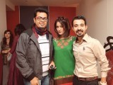 Asif Rana, Mathira and Hassan Hayat Khan. Z'Mario launches its sister brand Studio d'Art in Karachi.