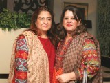 Bushra Aftab and Tehmina Shah. Lubna Nagi launches Mi Casa Furniture in Lahore. PHOTO COURTESY SAVVY PR AND EVENTS
