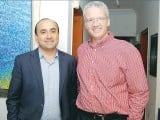 Shehzad Umer and Paul Keiser.  Nestle hosts a dinner in Karachi.