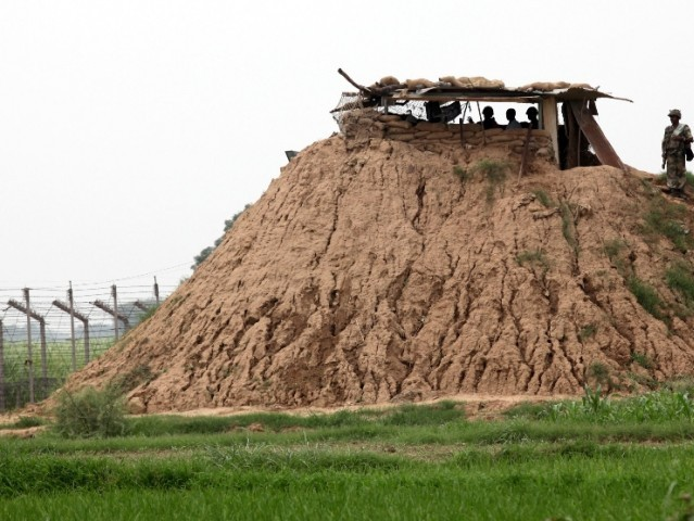 An Indian border post near the Line of Control. PHOTO: AFP/FILE