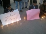 A candlelight vigil was also held in Islamabad. PHOTO: @UNCLEFU