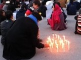 Candlelight vigil being held in Islamabad against the Shia killings. PHOTO: @ERUMRUM