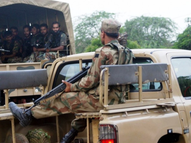 File photo of a Pakistan Army convoy. PHOTO: PPI/FILE