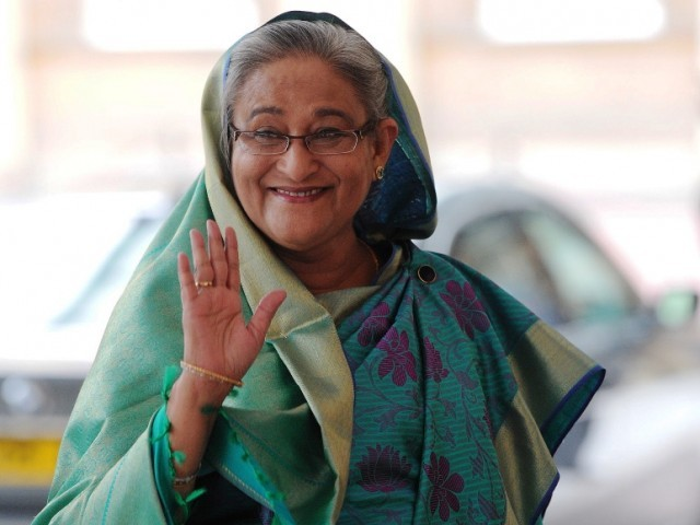 Hasina flew out the Bangladeshi capital Dhaka on Monday at the head of a 54-member delegation to Moscow PHOTO: AFP/FILE