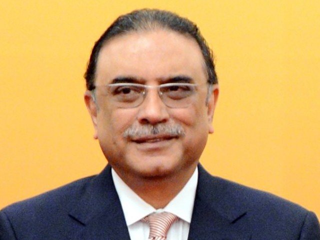 A file photo of President Asif Ali Zardari. PHOTO: AFP/FILE
