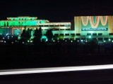 The Parliament decorated on account of Eid Miladun Nabi. PHOTO: MOHAMMAD JAVAID/EXPRESS