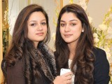 Aleeha and Nayyab. Fiction Concepts by Rabia Wahab launches in Lahore. PHOTO COURTESY BILAL MUKHTAR EVENTS & PR