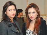Asma and Aliha Chaudhry. Fiction Concepts by Rabia Wahab launches in Lahore. PHOTO COURTESY BILAL MUKHTAR EVENTS & PR